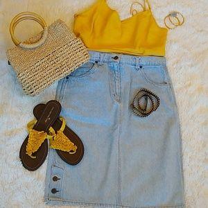 Valentino Denim Skirt. Size M